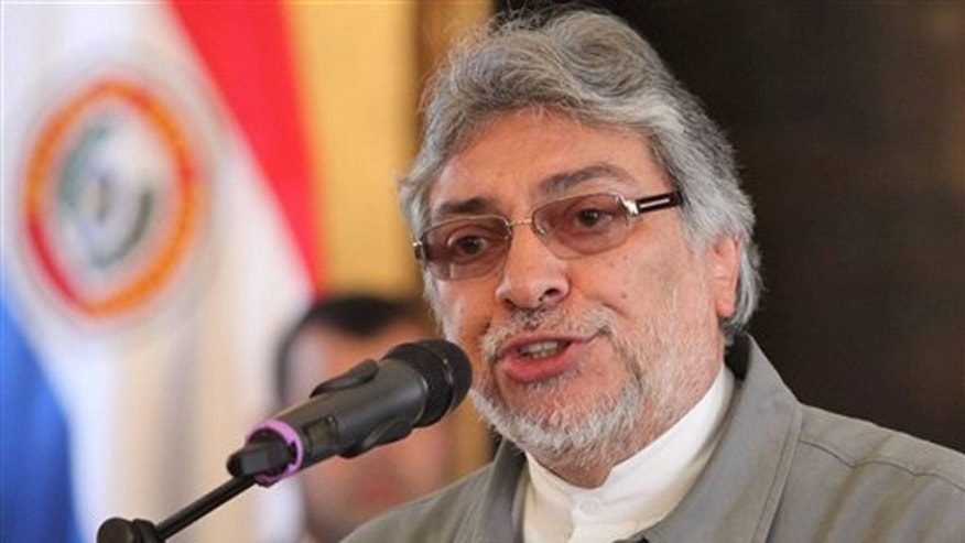 June 21, 2012: Paraguay's President Fernando Lugo gives a news conference at the government palace in Asuncion, Paraguay.