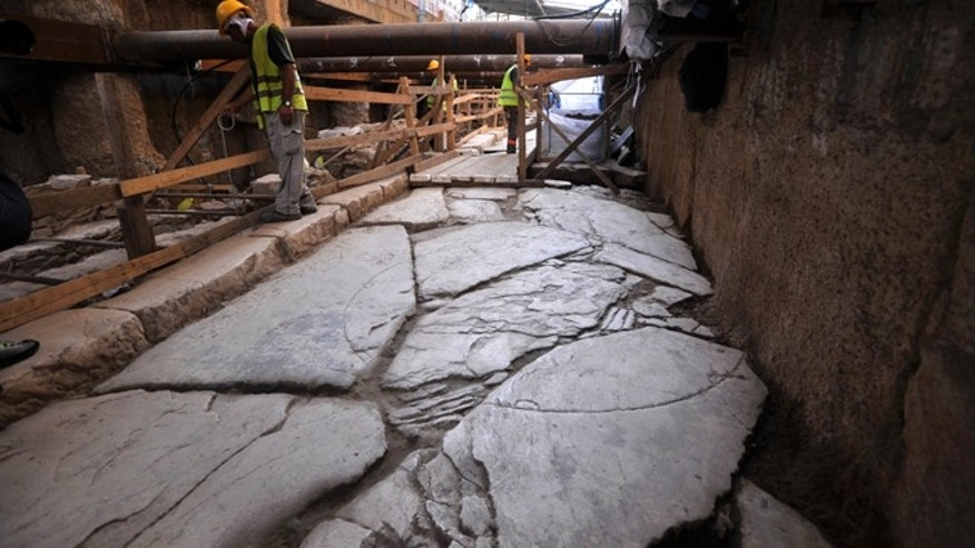 June 25, 2012: Archaeologists in Greeces second largest city have uncovered a 70-meter (230-foot) section of an ancient, marble-paved road built by the Romans that was citys main travel artery nearly 2,000 years ago.