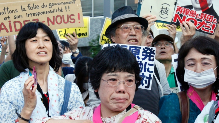 June 29, 2012: Protesters stage an anti-nuclear protest rally near Prime Minister Yoshihiko Noda's office in Tokyo.