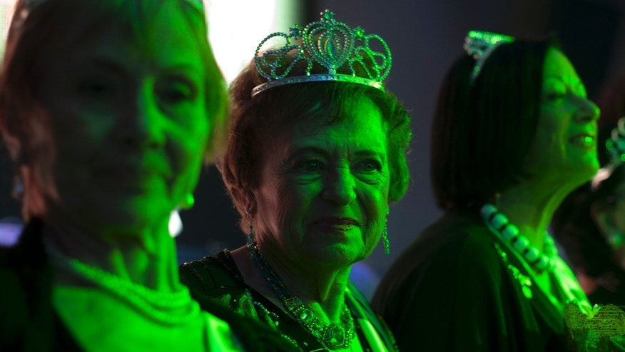 June 28, 2012: Holocaust survivors participate in a beauty pageant, in the northern Israeli city of Haifa.