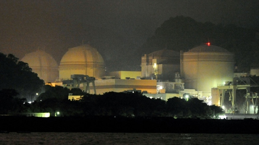 July 1, 2012: Ohi nuclear power plant is seen after its No. 3 rector, second from left, returned to operation in Ohi town, Fukui prefecture, western Japan.