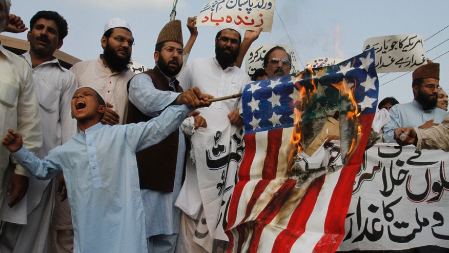 Burning the American flag can be deadly. (AP)