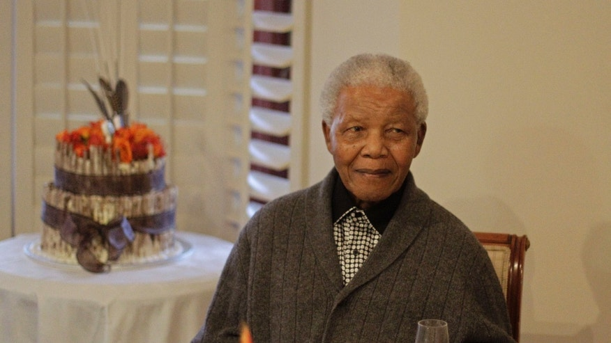 July 18, 2012: Former South African President Nelson Mandela as he celebrates his birthday with family in Qunu, South Africa.