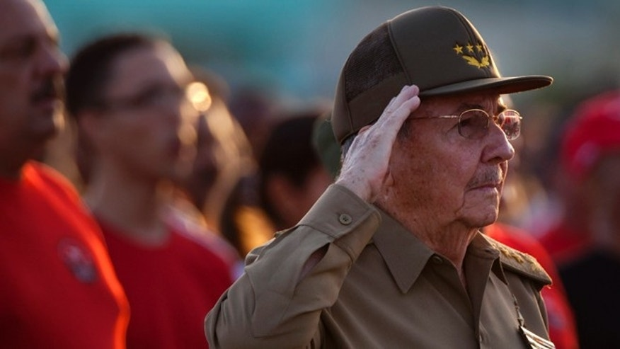 July 26, 2012: Cuba's President Raul Castro salutes during celebrations marking Revolution Day in Guantanamo, Cuba.