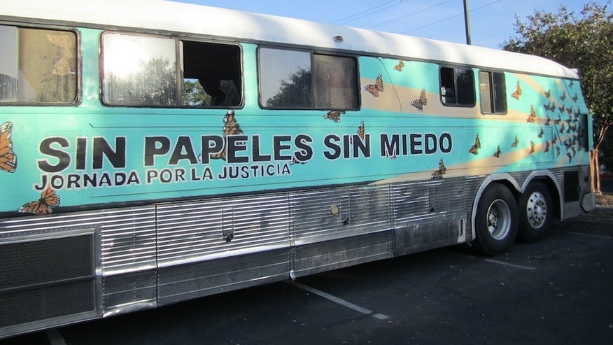 Photo by Rocío Villalobos, courtesy of the UndocuBus.