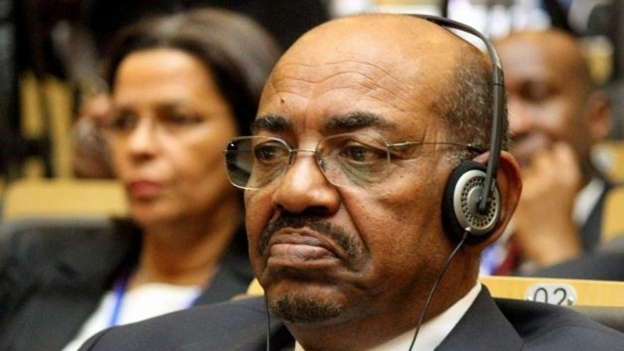 July 15, 2012: Sudan's President Omar al-Bashir attends the African Union summit in Addis Ababa, Ethiopia. Officials at UN Watch are calling on UN officials to denounce Sudan's candidacy for a seat on its Human Rights Council. (AP)