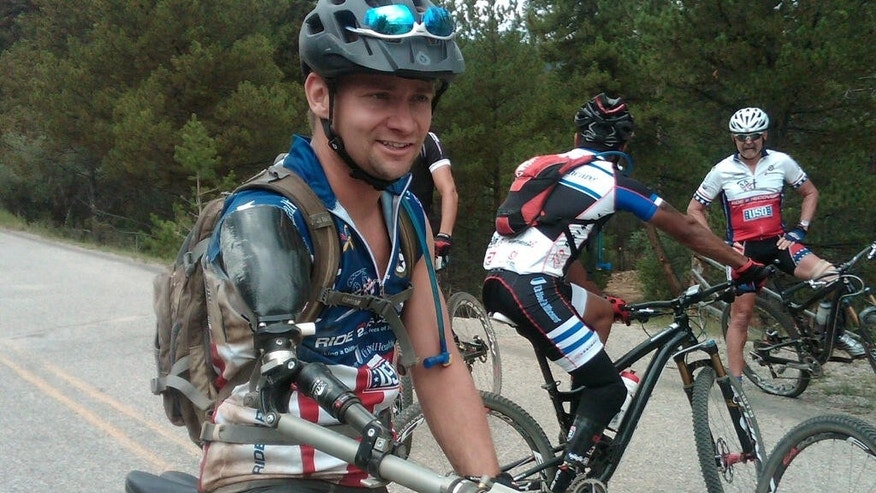 Ken Butler is one of several wounded warriors who will take on the grueling 100-mile challenge.