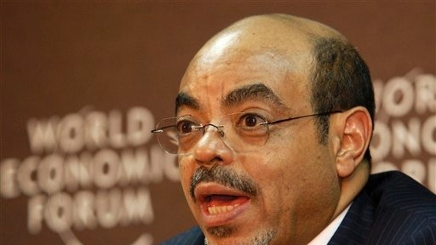 May 6, 2010: Ethiopian Prime Minister Meles Zenawi speaks during the 20th World Economic Forum on Africa at Mlimanin City Conference Centre in Dar es Salaam, Tanzania.