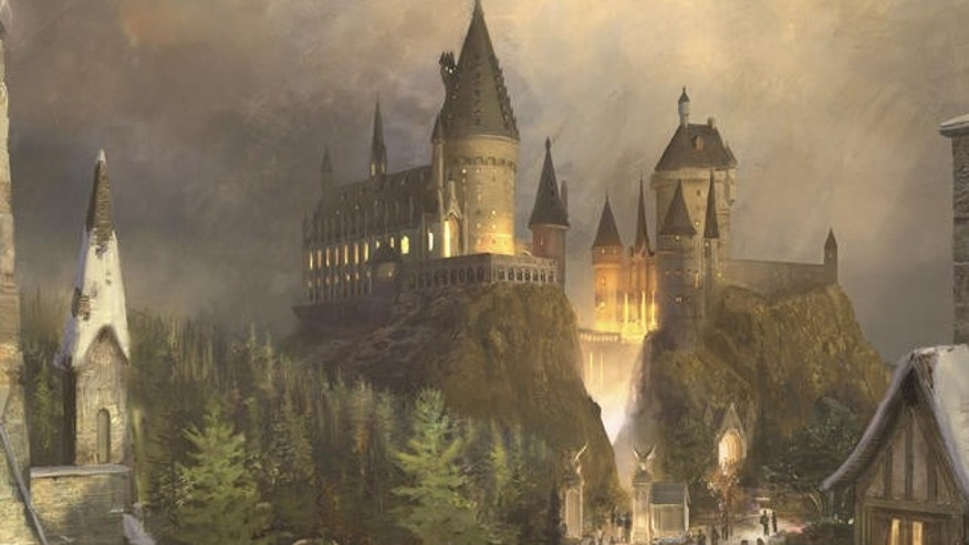 "In this undated artist's impression provided by Universal Studios Orlando, Hogwarts Castle is seen at ""The Wizarding World of Harry Potter"", which will open in late 2009 in Orlando, Fla.. Universal Studios is opening up a Harry Potter theme park in Florida, Universal said Thursday, May 31, 2007, complete with the Hogwarts School of Witchcraft and Wizardry, the Forbidden Forest and Hogsmeade village. (AP Photo/Universal Studios Orlando, HO) ** NO SALES EDITORIAL USE ONLY **"