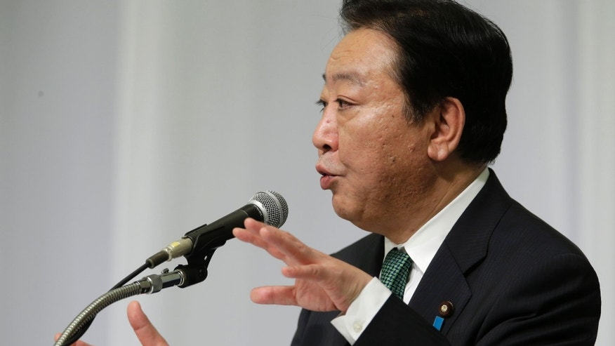 Sept. 10, 2012: Japanese Prime Minister Yoshihiko Noda speaks during a joint press conference by candidates of the presidential election of Japans ruling Democratic Party of Japan in Tokyo.