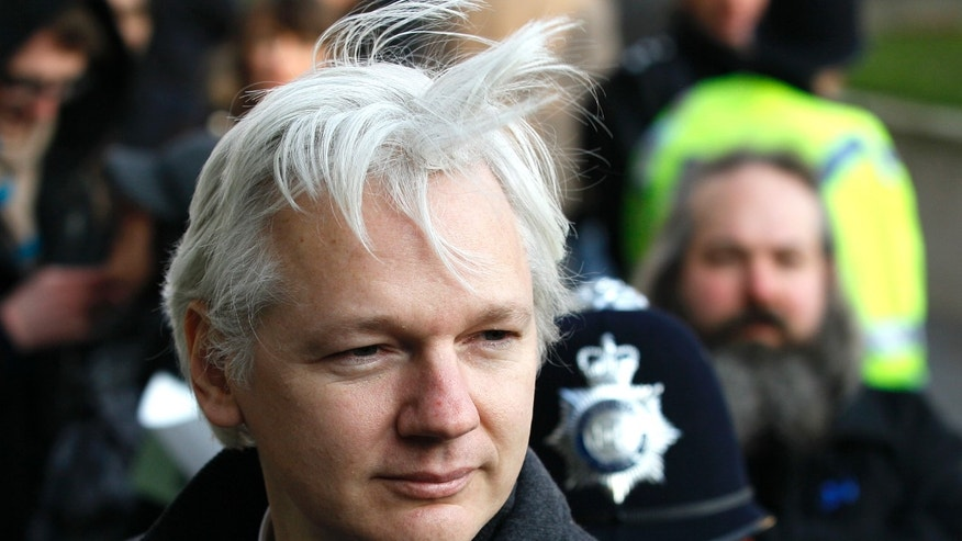 Feb. 1, 2012:  In this file photo, Julian Assange, WikiLeaks founder, arrives at the Supreme Court in London.