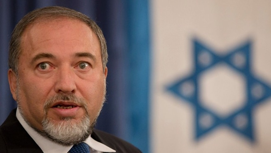 Sept. 13: Israeli Foreign Minister Avigdor Lieberman gives a speech at the Foreign Minister office in Jerusalem.