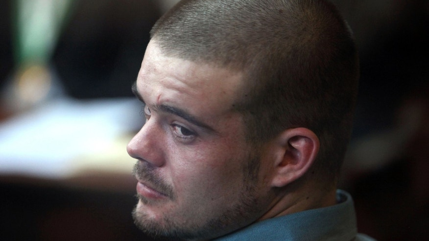 Joran van der Sloot in the courtroom for his murder trial at San Pedro prison in Lima, Peru.