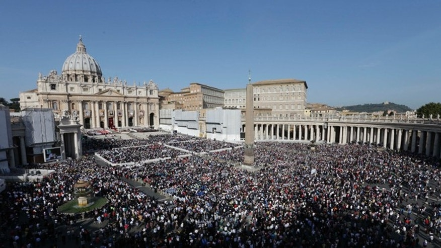 Oct. 21, 2012: A view of St. Peter's Square, at the Vatican, as  Pope Benedict XVI celebrates a canonization ceremony.