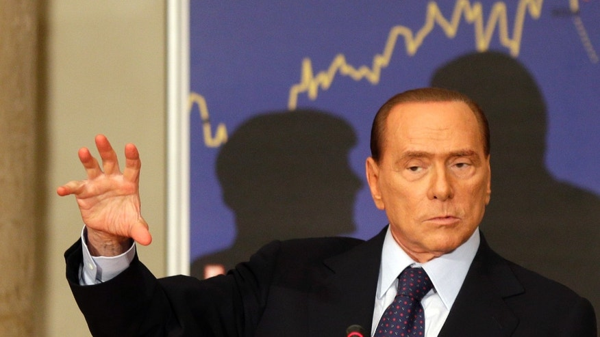 Sept. 27, 2012 - FILE photo of Former Italian premier Silvio Berlusconi.