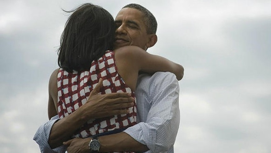 "President Obama's ""Four more years"" tweet including a picture of him hugging wife Michelle became the most re-tweeted tweet of all time on Tues. Nov, 6 2012."