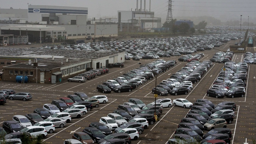 Oct. 25, 2012 - Ford cars ready for export are parked at the Ford plant in Genk, Belgium.