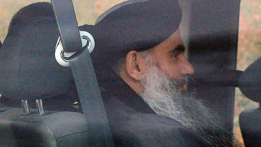 Nov. 13, 2012: Islamic cleric Abu Qatada is driven out of Long Lartin high security prison in Worcestershire,  England, after winning the latest round in his battle against deportation.