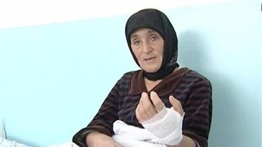 Nov. 13, 2012: In this video grab provided by the APTN Aishat Maksudova speaks at a hospital, at Kizlyar, Russia Caucasus provivce.