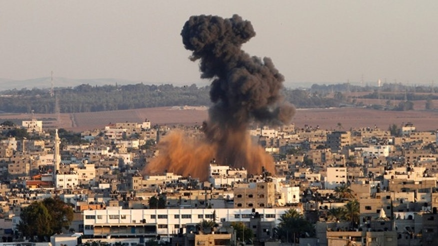 Nov. 15, 2012: Israel barraged the Gaza Strip with airstrikes and shelling and killed the Hamas military chief in a targeted strike, launching a campaign aimed at stopping rocket attacks from Islamic militants.