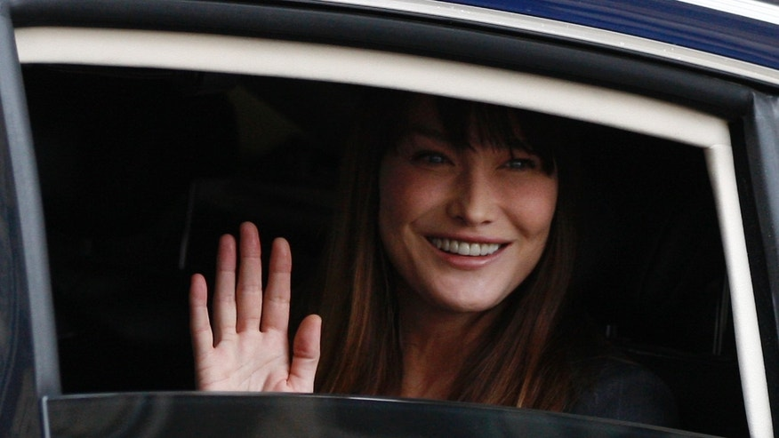 May 15, 2012 FILE photo of Carla Bruni-Sarkozy, wife of outgoing President Nicolas Sarkozy.