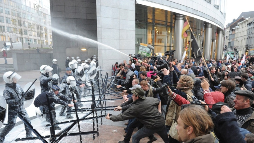 Nov. 26, 2012 - Demonstration outside the European Parliament in Brussels