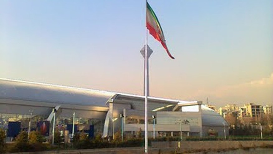 New flagpoles in Iran are sparking fears that the Islamic regime is using them to hide satellite jamming technology that can block Internet, TV and phone communication.