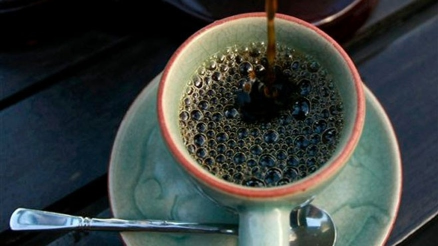 Dec. 3, 2012: The $500 per pound Black Ivory coffee is poured into a cup at a hotel restaurant in Chiang Rai province, northern Thailand.