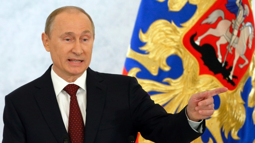 Dec. 12, 2012: Russian President Vladimir Putin speaks during a state-of-the nation address in Moscow, Russia.