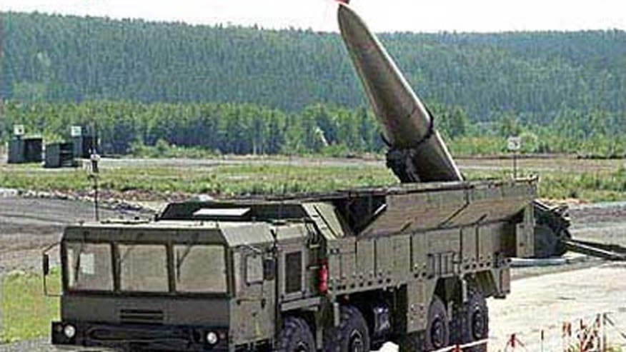 Russian missile batteries like this one are already in place along Syria's borders, according to reports. (AP)
