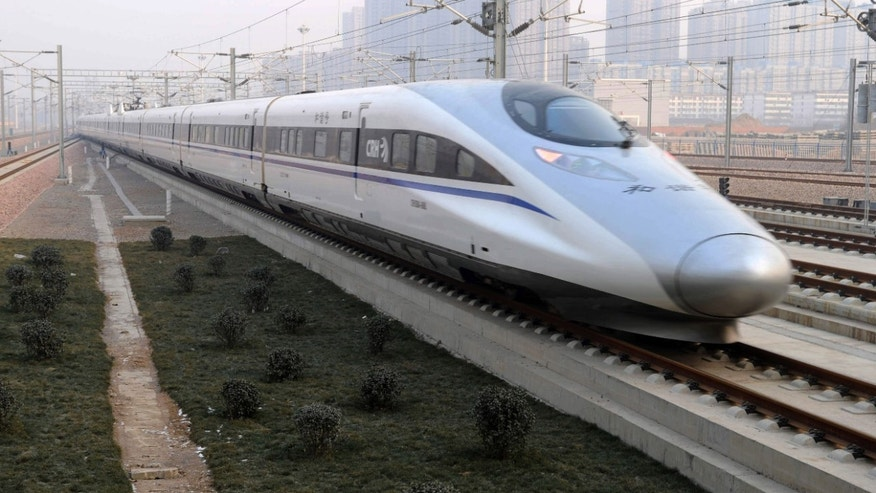 Dec. 26, 2012: In this photo released by China&#39&#x3b;s Xinhua news agency, a high-speed train G802 leaves for Beijing from Shijiazhuang, capital of north China&#39&#x3b;s Hebei Province.