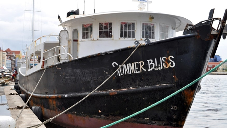 Nov. 30, 2012: The Summer Bliss fishing boat sits docked at the Willemstad port in Curacao.