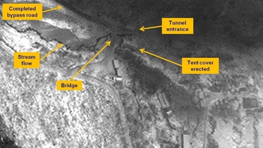 Dec. 28, 2012: This satellite image taken Nov. 19, 2012 shows the entrance area of the Punggye-ri Nuclear Test Facility in North Korea, where experts suspect Pyongyang will conduct its next detonation.