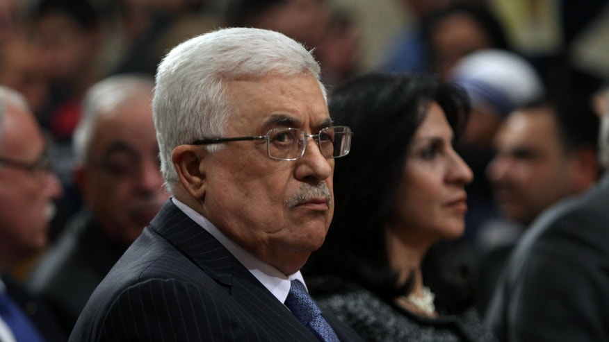 Dec. 25, 2012 - FILE of Palestinian President Mahmoud Abbas in the West Bank town of Bethlehem.
