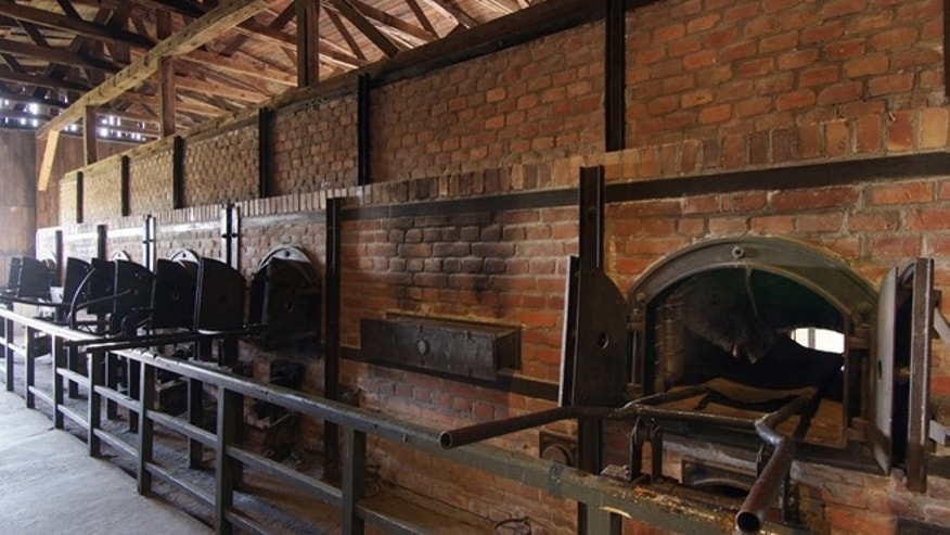 In this undated photo, publicly provided by the State Museum of Majdanek, in Lublin, Poland, crematorium furnaces are pictured.