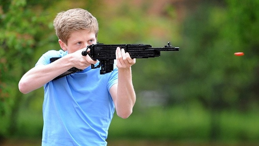 Jack Streat, 18, is a well-known LEGO weapons builder with more than 30,000 subscribers on his YouTube channel, where he showcases four 1:1-scale functional replicas of the world's most recognizable firearms, including the imposing Desert Eagle with blowback action and an AKS-74U assault rifle with folding stock. (Courtesy: Jack Streat/Rob Howarth)