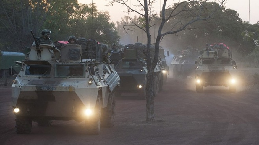 Jan. 16, 2013: In this picture released by the French Army Communication Audiovisual office (ECPAD) French armored vehicles drive to the north of Mali, outside Bamako.