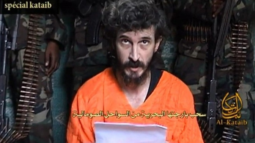 June 9, 2010: In this undated file image from a video posted on Islamic militant websites and made available, a man identified as French security agent Denis Allex pleads for his release from the Somali militant group al-Shabaab who have been holding him for nearly a year.
