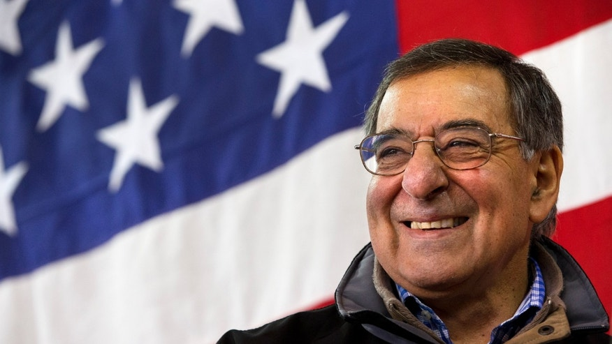 Defense Secretary Leon Panetta smiles as he speaks to the 173rd Airborne Brigate Combat Team at U.S. Army Garrison in Vicenza, Italy, Thursday, Jan. 17, 2013. Panetta is in Italy as part of a weeklong swing across Europe, meeting with defense ministers to talk about ongoing conflicts in Afghanistan and Mali. This is expected to be Panetta's last overseas trip as Pentagon chief, as he long has planned to step down once his replacement is confirmed. (AP Photo/Jacquelyn Martin)