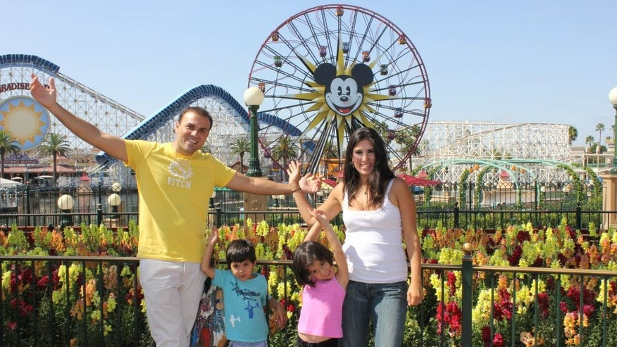 Pastor Saeed Abedini seen here with his wife Naghmeh and their two children in an undated photo.