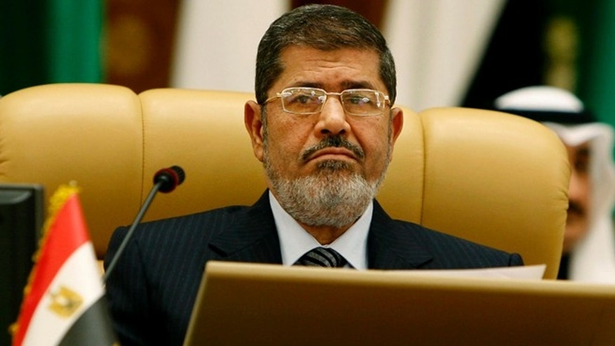 Jan. 21, 2013: Egyptian President Mohammed Morsi attends the third session of the Arab Economic Summit, in Riyadh, Saudi Arabia.