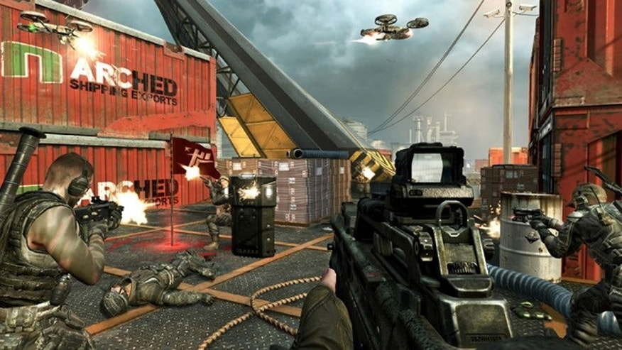 This is a screen shot of a scene of Call of Duty: Black Ops 2.