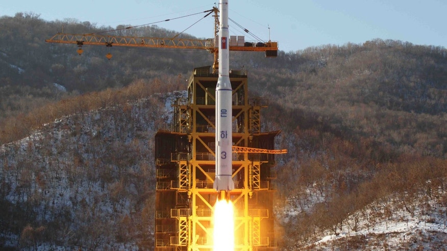 FILE - In this Dec. 12, 2012 file photo released by Korean Central News Agency, North Korea's Unha-3 rocket lifts off from the Sohae launch pad in Tongchang-ri, North Korea. The U.N. Security Council on Tuesday, Jan. 22, 2013 unanimously approved a resolution condemning North Korea's rocket launch in December and imposing new sanctions on Pyongyang's space agency. (AP Photo/KCNA, File)