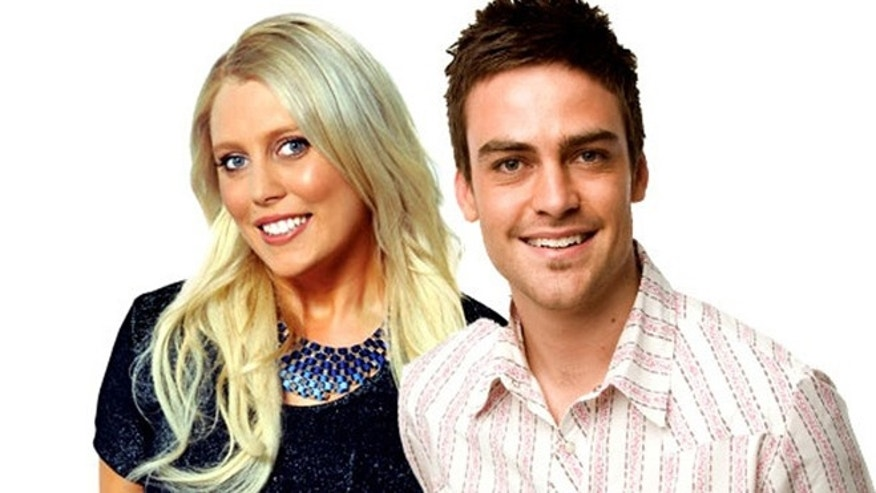 Undated publicity photo of 2 Day FM radio presenters Mel Greig, left, and Michael Christian.