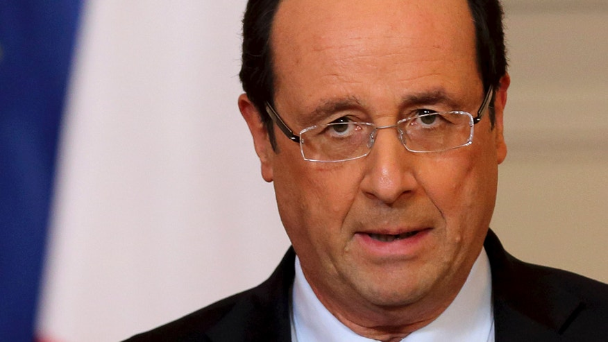 Jan. 11, 2013: France's President Francois Hollande delivers a speech on the situation in Mali at the Elysee Palace in Paris.