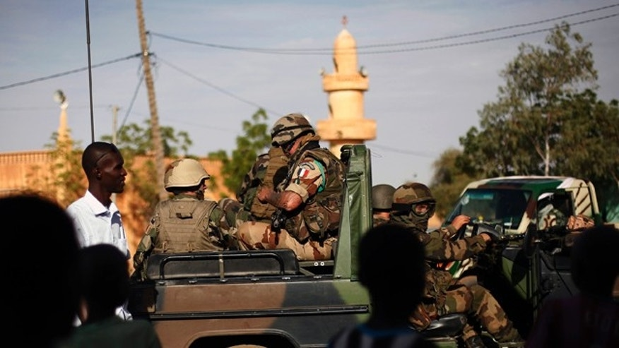 Jan. 29, 2013: French troops are seen  in Gao, northern Mali.