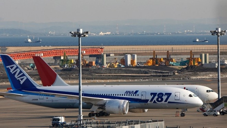 Jan. 30, 2013: An All Nippon Airways' Boeing 787 Dreamliner sits on the tarmac at Haneda Airport in Tokyo. U.S. regulators said Wednesday they asked Boeing Co. to provide a full operating history of lithium-ion batteries used in its grounded 787 Dreamliners after Japan's All Nippon Airways revealed it had repeatedly replaced the batteries even before overheating problems surfaced.