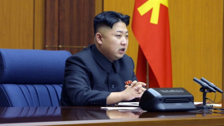 UNDATED: North Korean leader Kim Jong Un attends an enlarged meeting of the Central Military Commission of the Workers' Party of Korea at an undisclosed location of North Korea.