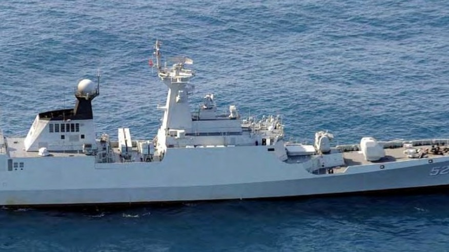 Feb. 5, 2013: This undated photo provided by Japan's Defense Ministry shows China's Jiangkai-I class frigate vessel.