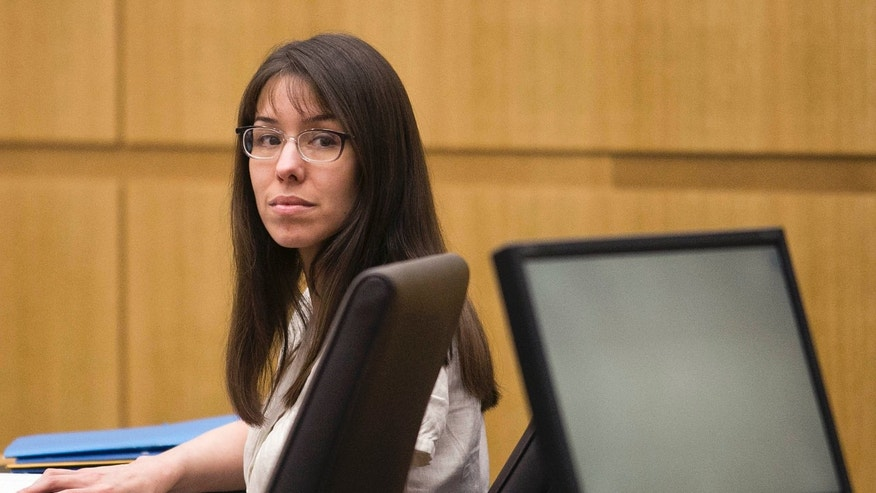 Jodi Arias listens to testimony in Maricopa County Superior Court, Wednesday, Jan. 30, 2013 in Phoenix.